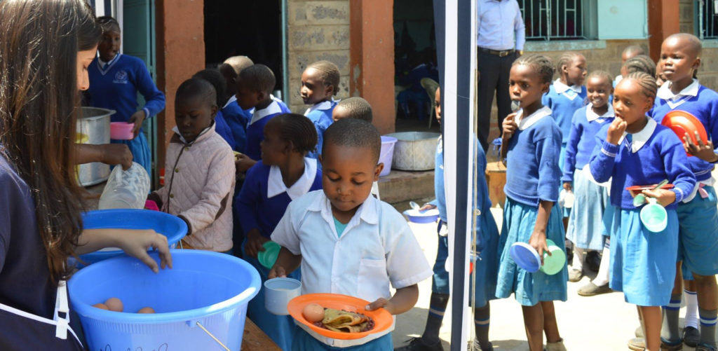 A One Horizon feeding station in a school